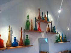 A few of my own. Italian Genie Bottles from Empoli.