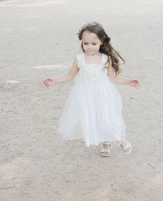 Free shipping /Girls flower dress ivory white special occasion birthday summer beach wedding toddler flower baptism tutu