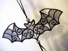 The most popular item in the shop!!    Freestanding Lace Bat Ornament by antsAccessories on Etsy, $10.00