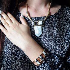 US $12.64 - eManco elegante e minimalista Geometric Choker Cadeia colar feminino Branco Turquesa Pedras Naturais banhado a ouro jóias aliexpress.com