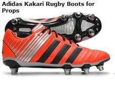 Rugby Boots for Props  The Adidas Kakari was specifically designed for tight-forwards and soon became accepted as one of the world's leading rugby boots for props. The boots are built with six studs at the front and two fixed at the back providing players with optimal traction when they are pushing hard in the scrums.