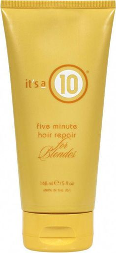It's A 10 Five Minute Hair Repair for Blondes | Ulta Beauty #EasyPromHairstyles Hair Breakage Treatment, Stop Hair Breakage, Hair Treatments, Diy Beauty Secrets, Beauty Tips, Beauty Ideas, 5 Minute Hairstyles, Prom Hairstyles, Simple Prom Hair