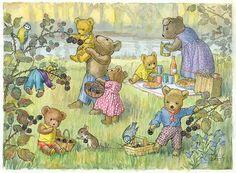 Teddy Bears and Blackberries' - teddies having a picnic