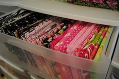 Craft Room- Fabric Organization