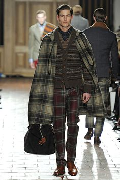 Hackett London AW13 #LondonCollections... mixed patterns. Plaid is everywhere this winter 2013
