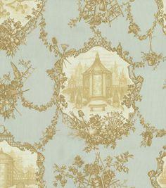 Home Decor Print Fabric-Braemore Garden Toile Aqua: home decor fabric: fabric: Shop | Joann.com