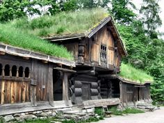 and the forest dreams eternally. Viking Village, Santa's Village, Norway Landscape, Oslo, Viking House, Long House, Medieval Houses, Dream Properties, Norway Travel