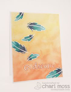 Lawn Fawn April Inspiration Week: Dream. Made with Lawn Fawn Dream. Watercolored with Distress Inks. @Lauren Wood Fawn @Ryan Gregson Industries