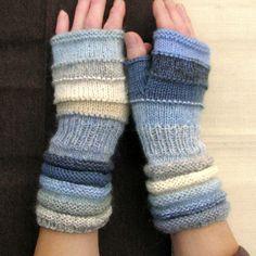 Blu senza dita come  come un fiocchi di neve d'inverno di dwarfs