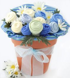 Nikki's Baby Blossom Clothing Bouquet Gift-Boy « Holiday Adds