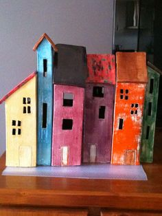 Ceramic houses  By Rosy Clark