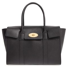 Mulberry 'New Bayswater' Grained Leather Satchel - Black