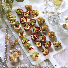 6 goda tilltugg till nyårsbubblet Tapas, Prosecco, Brie, Mini Cupcakes, Finger Foods, Champagne, Snacks, Brunch, Food And Drink