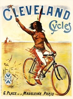 Cleveland Cycles Bicycle Poster 11x17 by BicyclePosters on Etsy