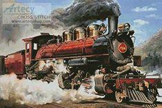 Locomotive - cross stitch pattern designed by Tereena Clarke. Category: Vehicles.