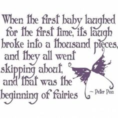 Peter Pan=beginning of fairies