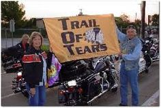 The Trail of Tears Remembrance Motorcycle Ride is an annual event in the South. It stars in Chattanooga Tennessee and concludes at the McFarland Park in Florence, Alabama where programs and other events also take place.