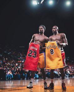 Michael Jordan and Kobe Bryant jersey swap NBA Art Michael Jordan, Kobe Bryant Michael Jordan, Michael Jordan Pictures, Michael Jordan Basketball, Kobe Bryant Lebron James, Lakers Kobe Bryant, Mvp Basketball, Bryant Basketball, Basketball Legends