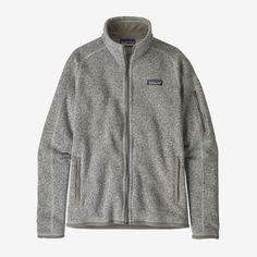 -EUC Women's Patagonia Better Sweater Full-Zip Fleece -great condition, absolutely no flaws! -size S (women's) -color: Birch White (marled grey) -retails for $139 on the patagonia website Patagonia Better Sweater, Patagonia Jacket, Patagonia Brand, Sweater Jacket, Vest Jacket, Cool Sweaters, Outdoor Outfit, Mode Style, Betta