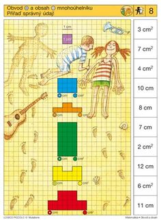 Soubor Logico Piccolo - Matematika Obvod a obsah Vhodné pro děti od 7 - 9 let… Sequencing Cards, Cycle 1, Brain Activities, Speech Therapy, Perception, Montessori, Playroom, Worksheets, Preschool