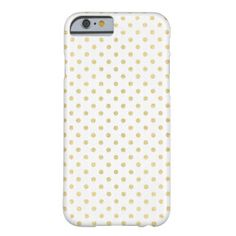 Small Gold Dots Pattern | White Barely There iPhone 6 Case