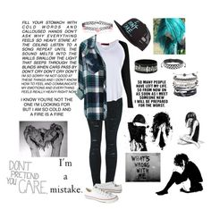 """~Whats wrong with me?~"" by skatergurl58 ❤ liked on Polyvore featuring 2LUV, Rails, Converse, Fox, West Coast Jewelry, Domo Beads, Love Quotes Scarves and WALL"