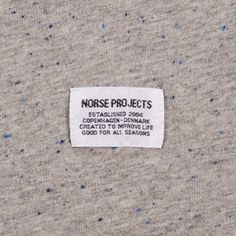 NORSE PROJECTS  RICHARD BOUCLE SS TEE - GREY MELANGE