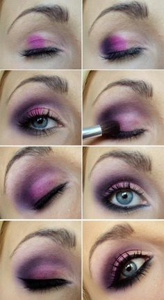 Ein Augen Make-up in mehreren Nuancen