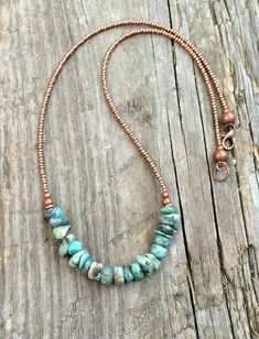 Turquoise necklace, turquoise jewelry, natural turquoise, southwestern jewelry - Crafts Are Fun Sea Glass Jewelry, Wire Jewelry, Jewelry Crafts, Gemstone Jewelry, Jewelry Necklaces, Jewlery, Handmade Necklaces, Silver Jewelry, Jewelry Box