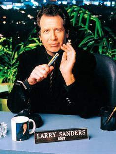 The Larry Sanders Show, HBO. How unfortunate it ended right before Internet water cooler shows hit it big. Ahead of its time but not forgotten. The Larry Sanders Show, Garry Shandling, Old Shows, Whitney Houston, Entertainment Weekly, Laughter, Nostalgia, Comedy, Author