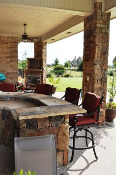 Gorgeous Stone Bar Fireplace And Openness Outdoor Heaters Patio Heater Outside House