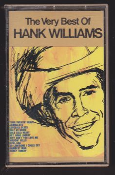 Vintage HANK WILLIAMS SR The Very Best Of...CASSETTE country music M5G-4168