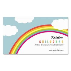 244 best childcare business cards images on pinterest business rainbow childcare day care business card colourmoves