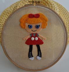 Lala Loopsy Felt embroidery hoop