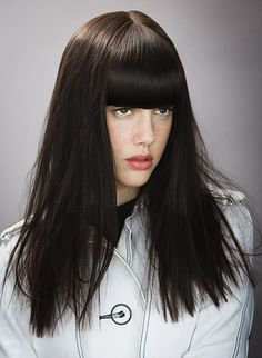 The Look: Fringe Benefits. Prime hair with Prep. Apply Does It All from roots to ends. Blow dry with a flat brush, then straighten with an iron. Reapply Does It All for piecey texture.