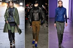 Army Trousers — Unlike the super-skinny cargo jeans of years past, these military trousers are a bit looser in the thigh and are made with materials that are more ripstop than denim. The trick is to wear them with high, high heels to keep the look from getting too costumey.