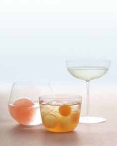 Bubbles Party: Rum Punch with Melon Balls Recipe