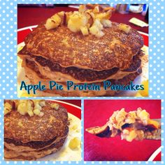 Apple pie protein pancakes! #cleaneating #clean #healthy #cleaneats #healthyeats #health #diet #exercise #fitness #nutrition #eatrealfood #eatclean #run #runner #running #mud #mudder #mudrun #protein #whey #yum #yummy #recipe #delicious #nutrition #apple #applepie #pancakes #beachbody #coach