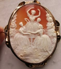 Museum Quality and rarest cameo depicting a Victorian ballet