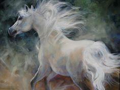 white horses in paintings - Bing Images