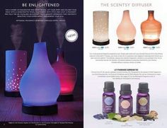 New Scentsy Diffusers!!! Available August 1st, 2015 through me!