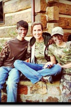 Duck Dynasty Korie with John luke and Sadie after hunting