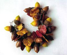 Acorn & Leaf Bracelet tutorial by http://kopilka.rv.ua