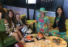 Low Tea with Michele Sorensen, Marguerite Carrol, Christy Adams & Maile Moran.