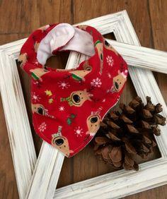Reindeer Flannel Bandana Drool Baby Bib/Bandana Bib/Baby Bib/Drool Bib/Teething Bib/Christmas Bib/Holiday Bib/Reindeer/Minky Bib by OccasionalGoods on Etsy