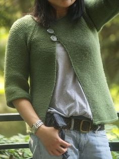 Garter Stitch Swingy Sweater
