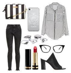 """""""Black and white"""" by assylay ❤ liked on Polyvore featuring New Look, 1.State and Gucci"""