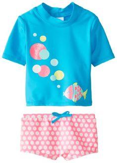 Carter's Baby-Girls Infant Girls 2 Pack Fish Bubble Rash Guard Set