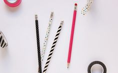 Use washi tape to brighten up your pencils.