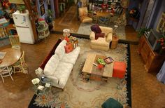 Top down view of Monica and Rachel's apartment #FriendsFest                                                                                                                                                     More